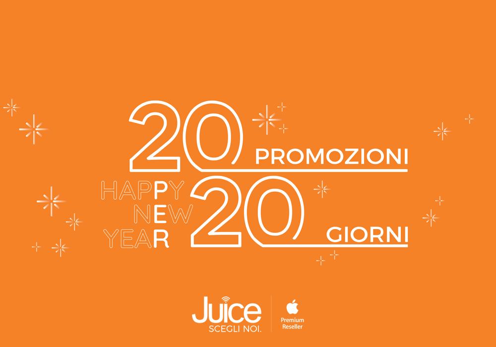 Iniziare il 2020 col botto? La nuova promozione Juice 20x20 è ciò che ti serve!